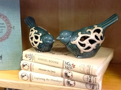 Birds on books